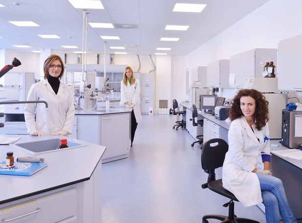 Employees in a research laboratory